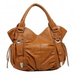 Soft Leather-Like Satchel - L. Brown - BG-HJ1105LBN
